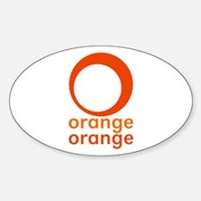 orange orange Decal