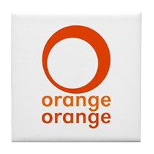 orange orange Tile Coaster