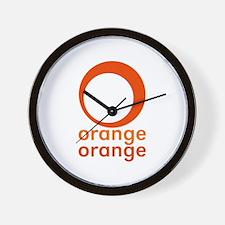 orange orange Wall Clock