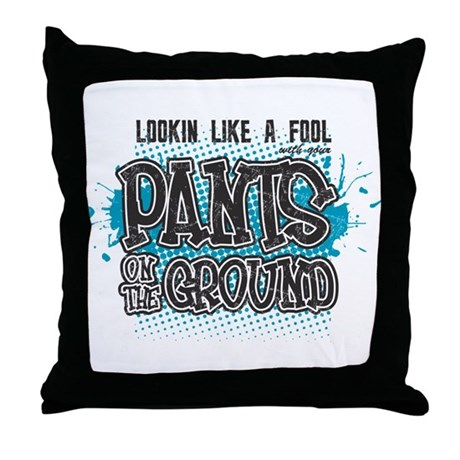Pants on the Ground Throw Pillow
