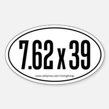 7.62x39 Oval Decal