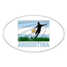 Argentina world cup soccer Oval Decal