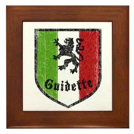 Guidette Framed Tile