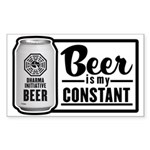 Beer Is My Constant Sticker (Rectangle)