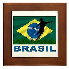 Brazilian World cup soccer Framed Tile