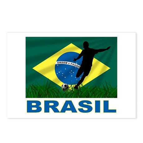 Brazilian World cup soccer Postcards (Package of 8