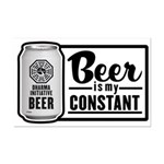 Beer Is My Constant Mini Poster Print