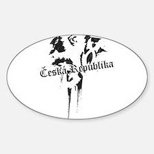 Czech Republic grungy Sticker (Oval)