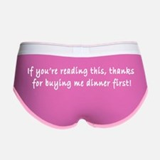 Funny and Risque Saying on Women's Boy Brief