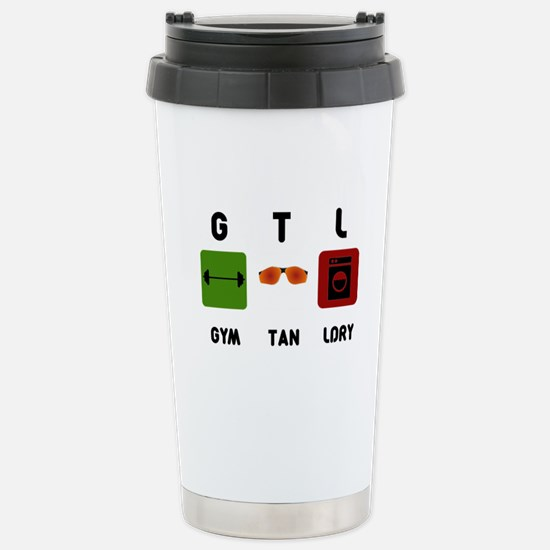 Gym Tan Laundry Stainless Steel Travel Mug
