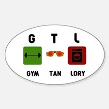 Gym Tan Laundry Sticker (Oval)