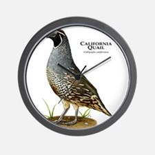 California Quail Wall Clock