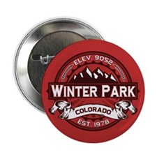 """Winter Park Red 2.25"""" Button"""