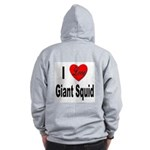 I Love Giant Squid (Back) Zip Hoodie