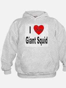 I Love Giant Squid Hoodie