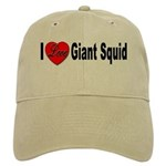 I Love Giant Squid Cap