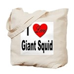 I Love Giant Squid Tote Bag