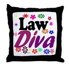 Law Diva (flowers) Throw Pillow