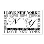 New York Rectangle Sticker