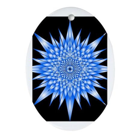 Ice Mandala Ornament (Oval)