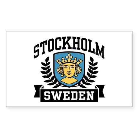 Stockholm Sweden Sticker (Rectangle)