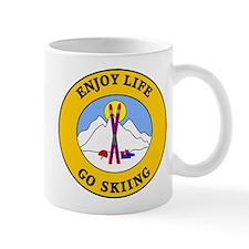 Enjoy Life Go Skiing Mug
