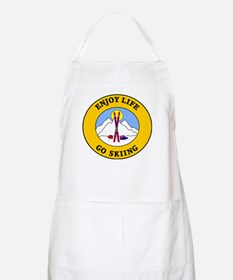 Enjoy Life Go Skiing Apron