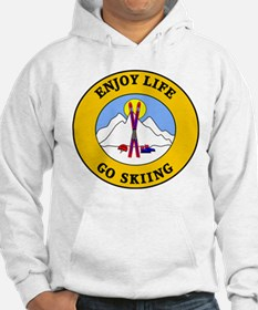 Enjoy Life Go Skiing Jumper Hoody