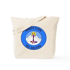 Enjoy Life Go Skiing Tote Bag
