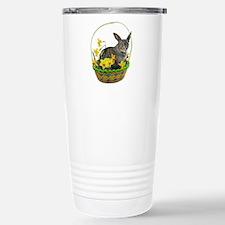 Easter Bunny Cat Daffodils Travel Mug