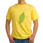 Green Leaf Yellow T-Shirt