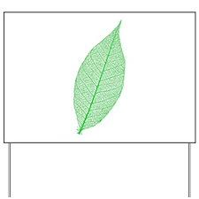 Green Leaf Yard Sign