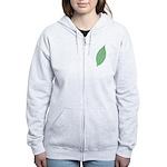 Green Leaf Women's Zip Hoodie