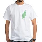 Green Leaf White T-Shirt