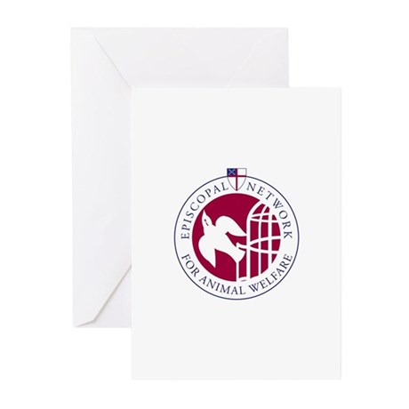 ENAW Red cropped Greeting Cards