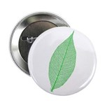 """Green Leaf 2.25"""" Button (10 pack)"""