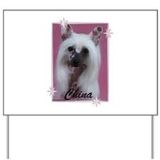 Unique Chinese crested Yard Sign