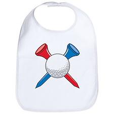 Golf Ball and Tees Bib