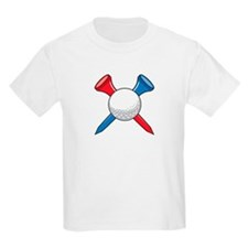 Golf Ball and Tees Kids T-Shirt