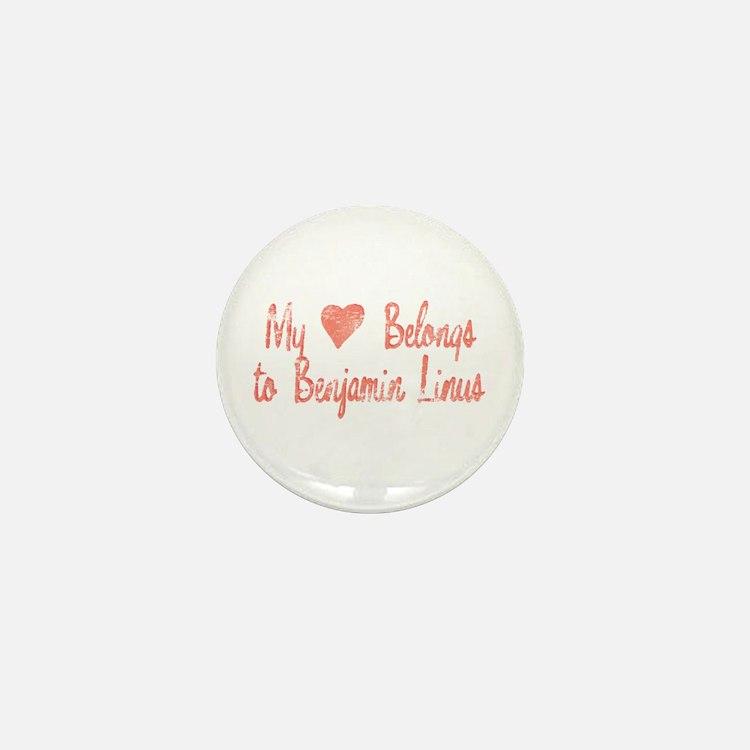 Heart Belongs Ben Linus Mini Button