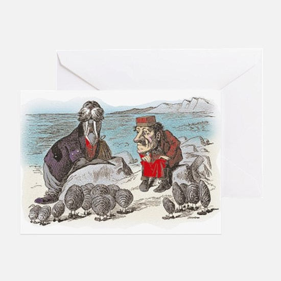 The Walrus and the Carpenter Greeting Card