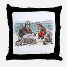 The Walrus and the Carpenter Throw Pillow