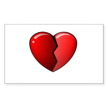 Broken Heart Rectangle Sticker