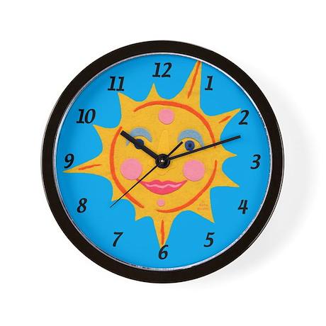Smiling Sun Wall Clock