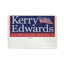 """Kerry Edwards"" Rectangle Magnet"