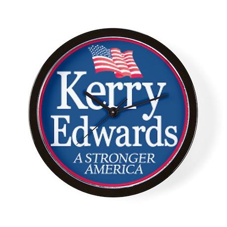 """Kerry Edwards"" Wall Clock"