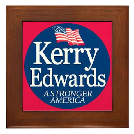 """""""Kerry Edwards"""" Framed Tile"""