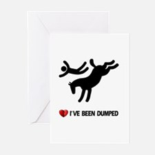 Dumped by my horse! Funny Greeting Cards (Package