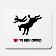 Dumped by my horse! Funny Mousepad