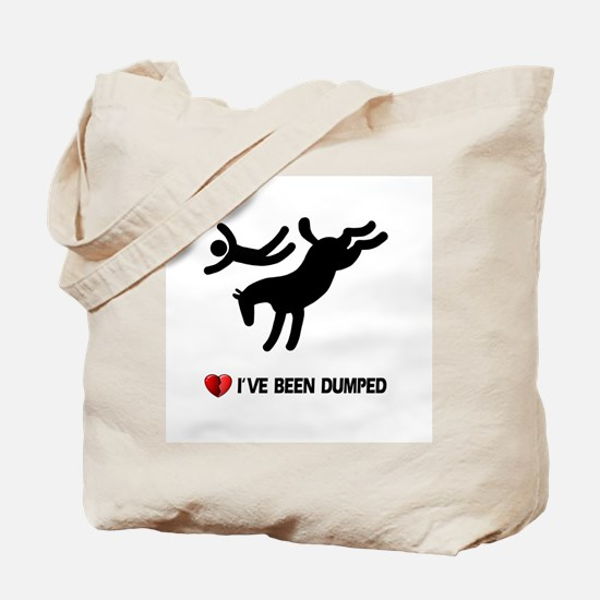 Dumped by my horse! Funny Tote Bag